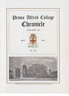 PAC Chronicle 1931 (1) Front Cover