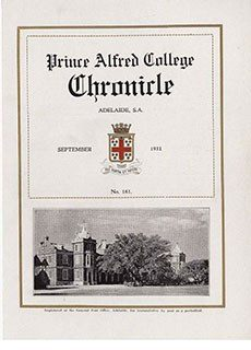 PAC Chronicle 1931 (2) Front Cover