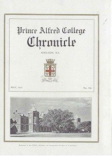 PAC Chronicle 1933 (1) Front Cover