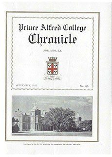 PAC Chronicle 1933 (2) Front Cover