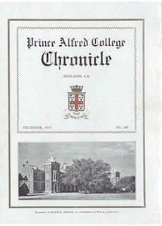 PAC Chronicle 1933 (3) Front Cover