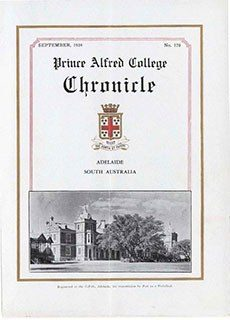 PAC Chronicle 1934 (2) Front Cover