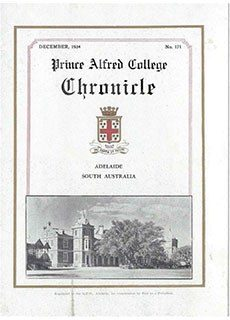 PAC Chronicle 1934 (3) Front Cover