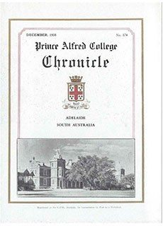 PAC Chronicle 1935 (3) Front Cover