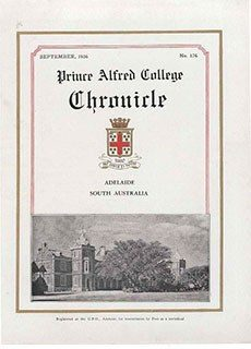 PAC Chronicle 1936 (2) Front Cover