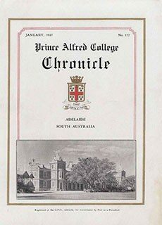 PAC Chronicle 1937 (1) Front Cover