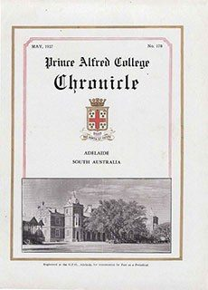 PAC Chronicle 1937 (2) Front Cover