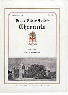 PAC Chronicle 1938 (1) Front Cover