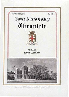 PAC Chronicle 1938 (3) Front Cover