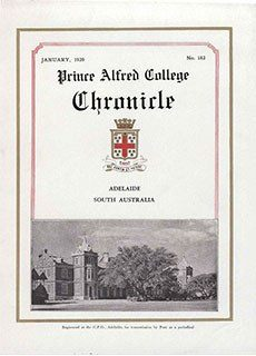 PAC Chronicle 1939 (1) Front Cover