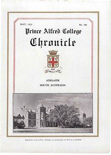 PAC Chronicle 1939 (2) Front Cover