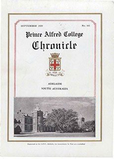 PAC Chronicle 1939 (3) Front Cover