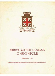 PAC Chronicle 1951 (1) Front Cover