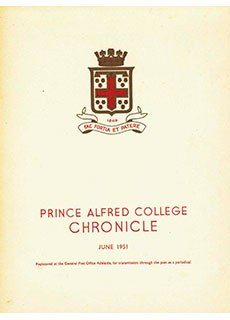 PAC Chronicle 1951 (2) Front Cover