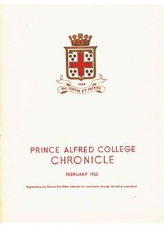 PAC Chronicle 1952 (1) Front Cover
