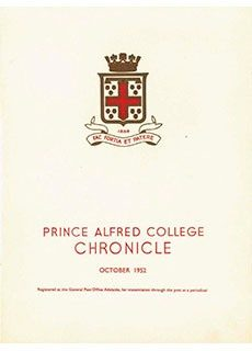 PAC Chronicle 1952 (2) Front Cover