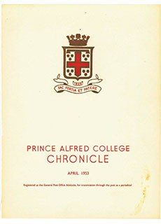 PAC Chronicle 1953 (1) Front Cover