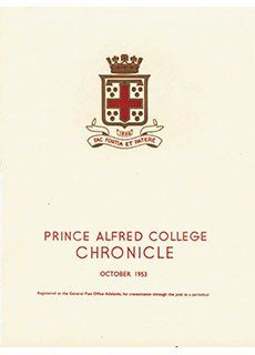PAC Chronicle 1953 (2) Front Cover