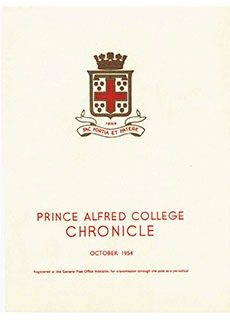 PAC Chronicle 1954 (2) Front Cover