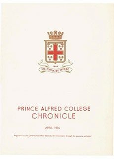 PAC Chronicle 1956 (1) Front Cover