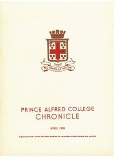 PAC Chronicle 1958 (1) Front Cover