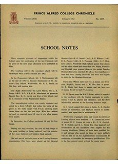 PAC Chronicle Front Cover