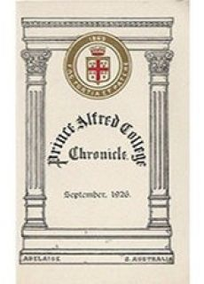 PAC Chronicle 1926 (2) Front Cover